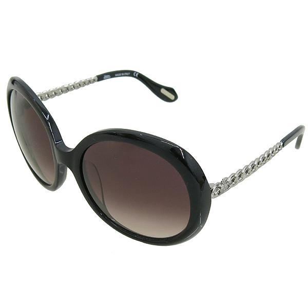 Vivienne_Westwood VW79301 측면 은장 로고 장식 블랙 선글라스 이미지3 - 고이비토 중고명품