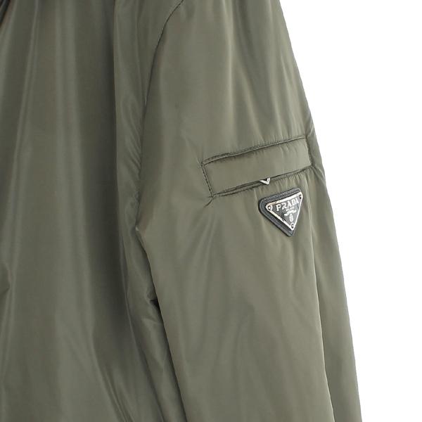 Prada(프라다) SGH432 카키컬러 폴리에스텔 삼각 은장로고 윈드스토퍼 후드 자켓 [동대문점] 이미지3 - 고이비토 중고명품