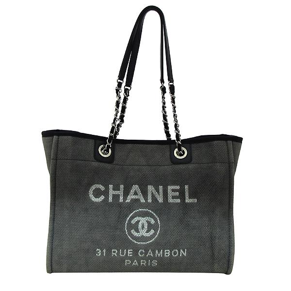 Chanel(샤넬) 31 RUE CAMBON PARIS 로고 그레이 패브릭 도빌 SHOPPNG(쇼핑) 숄더백 [부천 현대점] 이미지2 - 고이비토 중고명품