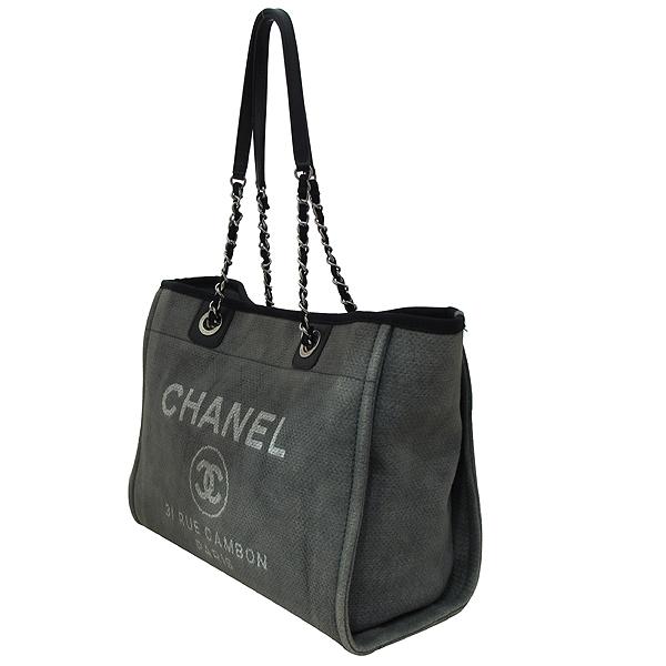 Chanel(샤넬) 31 RUE CAMBON PARIS 로고 그레이 패브릭 도빌 SHOPPNG(쇼핑) 숄더백 [부천 현대점] 이미지3 - 고이비토 중고명품