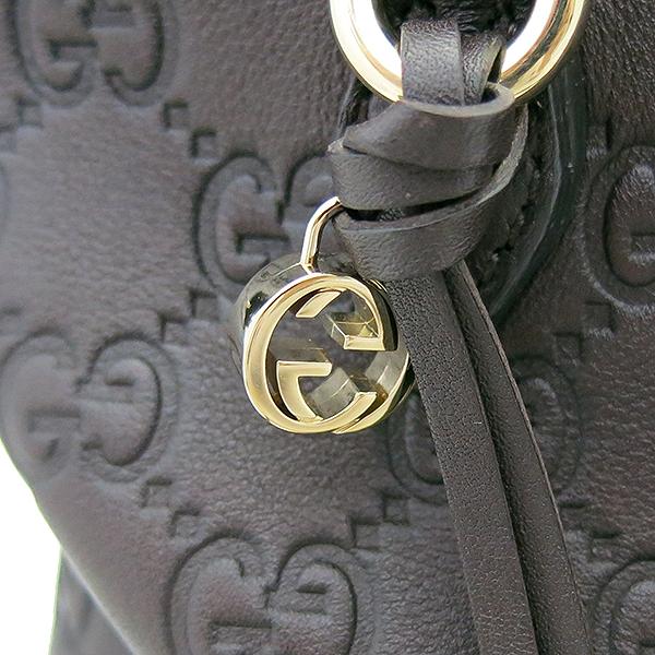 Gucci(구찌) 353120 다크브라운 시마 레더 토트백  + 숄더 스트랩 2WAY [부산센텀본점] 이미지4 - 고이비토 중고명품