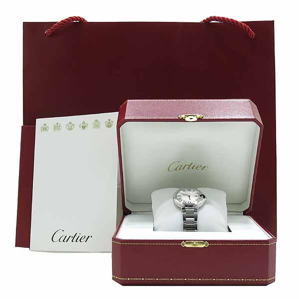 Cartier(까르띠에) W6920084 발롱블루 드 까르띠에 스틸 쿼츠 33MM 여성용 시계 [인천점]