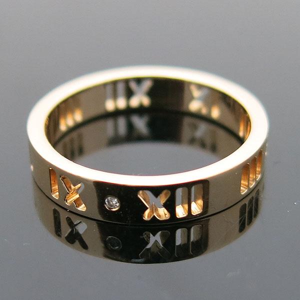 Tiffany(티파니) 18K 옐로우 골드 아틀라스 피어스드 4포인트 다이아 반지 11.5호 [인천점] 이미지2 - 고이비토 중고명품