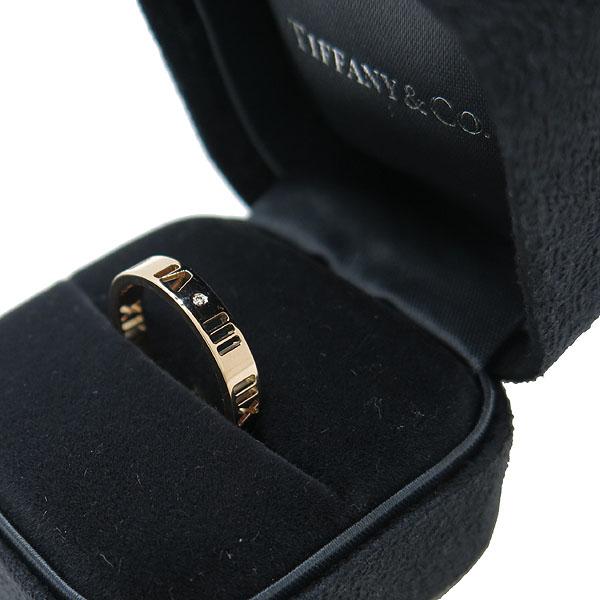 Tiffany(티파니) 18K 옐로우 골드 아틀라스 피어스드 4포인트 다이아 반지 11.5호 [인천점]