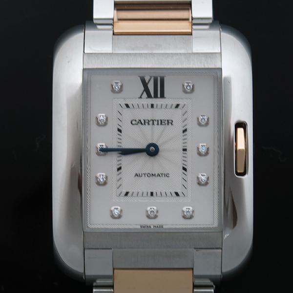 Cartier(까르띠에) WT100025 탱크 앙그레즈 핑크골드 콤비 11포인트 다이아 L사이즈 오토매틱 남성용 시계 [인천점] 이미지2 - 고이비토 중고명품