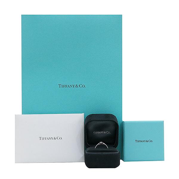 Tiffany(티파니) PT950(플래티늄) 하모니 0.19ct 다이아몬드(I컬러 VVS2) 웨딩 반지 - 12호 [부산센텀본점]