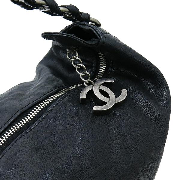 Chanel(샤넬) 블랙레더 COCO 로고 스티치 아웃오브체인 호보 숄더백 [강남본점] 이미지4 - 고이비토 중고명품
