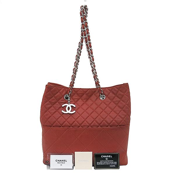 Chanel(샤넬) COCO로고 장식 램스킨 퀼팅 스티치 체인 숄더백 [부산센텀본점]