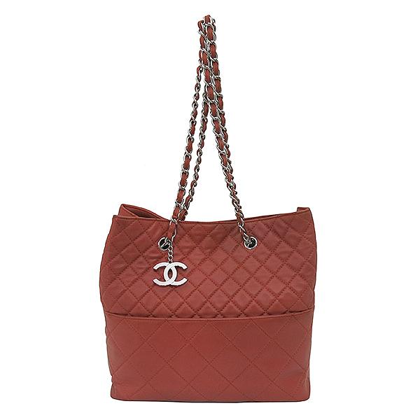 Chanel(샤넬) COCO로고 장식 램스킨 퀼팅 스티치 체인 숄더백 [부산센텀본점] 이미지2 - 고이비토 중고명품