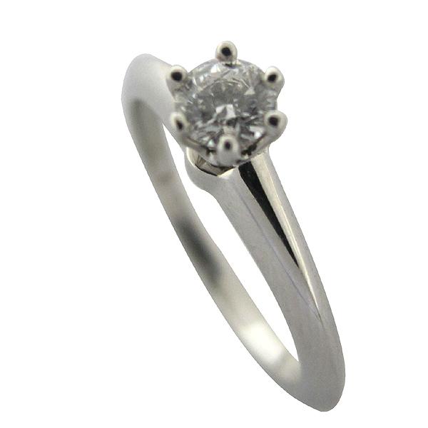 Tiffany(티파니) 36322861 PT950(플래티늄) 0.21ct MEDIUM BLUE BEILLIANT(브릴리언트컷) 다이아몬드(D컬러 VVS2) 라운드 웨딩 링 반지 -9.5호 [대구동성로점] 이미지4 - 고이비토 중고명품