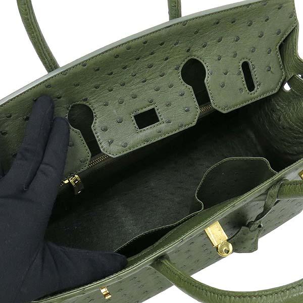 HORMIGA(호미가) OT2806 카키 컬러 타조가죽(오스트리치) 벌킨 35사이즈 토트백 [대구반월당본점] 이미지6 - 고이비토 중고명품