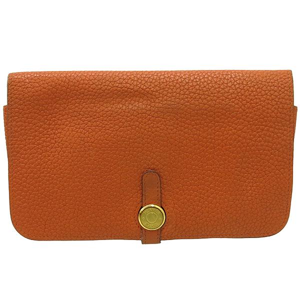 Hermes(에르메스) 오렌지 컬러 레더 도곤 장지갑 + 보조파우치 [강남본점] 이미지2 - 고이비토 중고명품