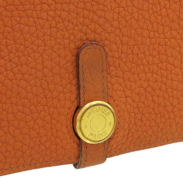 Hermes(에르메스) 오렌지 컬러 레더 도곤 장지갑 + 보조파우치 [강남본점] 이미지3 - 고이비토 중고명품