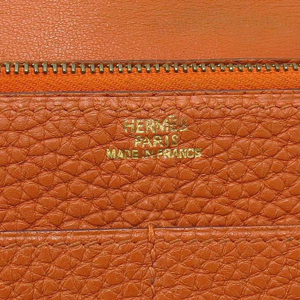 Hermes(에르메스) 오렌지 컬러 레더 도곤 장지갑 + 보조파우치 [강남본점] 이미지4 - 고이비토 중고명품
