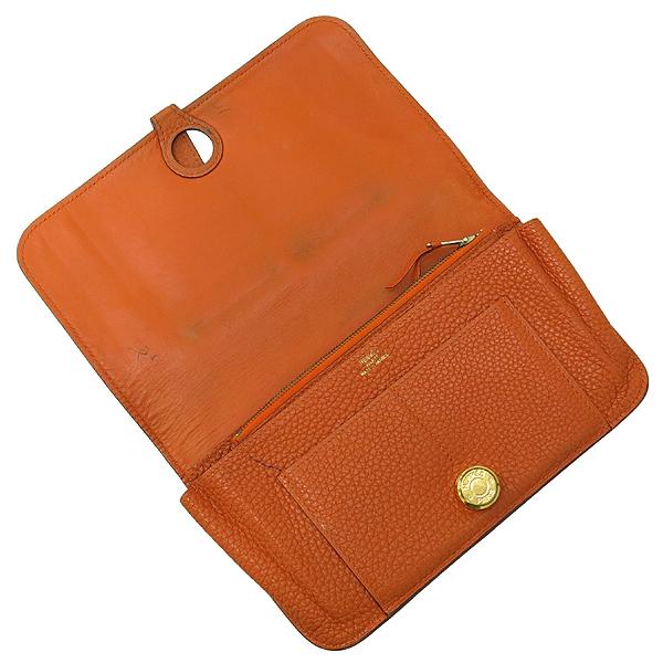 Hermes(에르메스) 오렌지 컬러 레더 도곤 장지갑 + 보조파우치 [강남본점] 이미지5 - 고이비토 중고명품