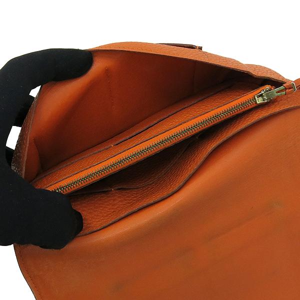 Hermes(에르메스) 오렌지 컬러 레더 도곤 장지갑 + 보조파우치 [강남본점] 이미지6 - 고이비토 중고명품
