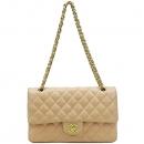 Chanel(샤넬) A01112 램스킨 라이트 인디핑크 클래식 M사이즈 금장로고 체인 플랩 숄더백 [강남본점]