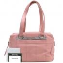 Chanel(샤넬) A28023Y03168 은장 로고 장식 핑크 레더 숄더백 [대구반월당본점]