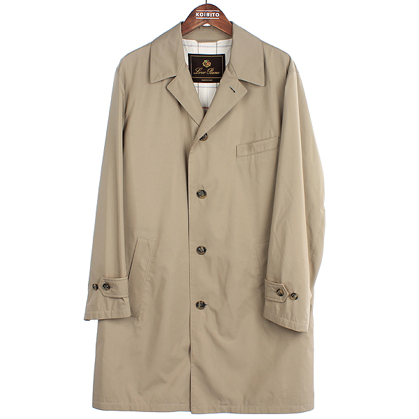 LORO PIANA(로로피아나) Storm System(방수 방진) 고트스킨 넥 로고 남성 코트 [강남본점]