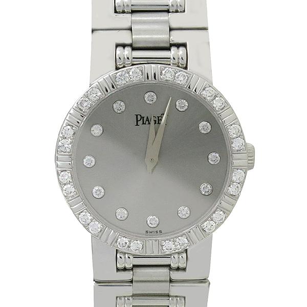 PIAGET(피아제) 80564 18K 화이트 골드 금통 Dancer (댄서)  베젤 다이아 + 12포인트 인덱스 쿼츠 여성용 시계 [강남본점]