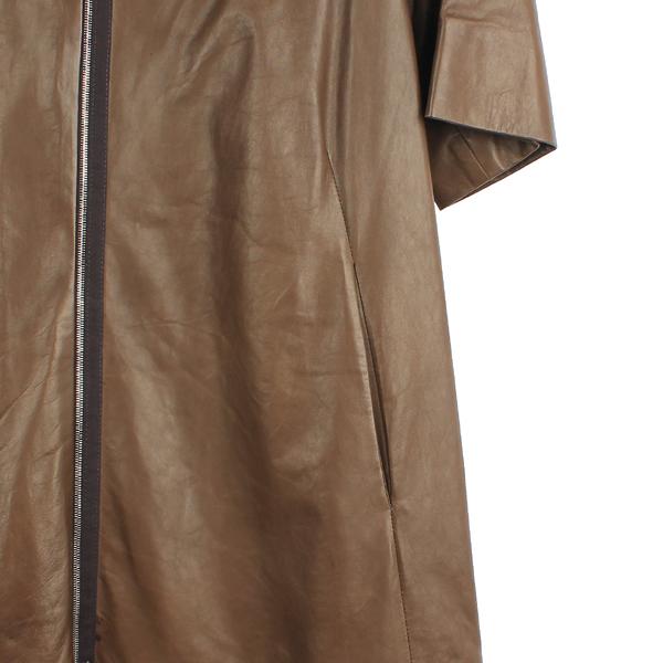 MARNI(마르니) 브라운 컬러 7부 양가죽 여성용 가죽 코트[부산센텀본점] 이미지3 - 고이비토 중고명품