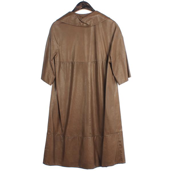MARNI(마르니) 브라운 컬러 7부 양가죽 여성용 가죽 코트[부산센텀본점] 이미지4 - 고이비토 중고명품