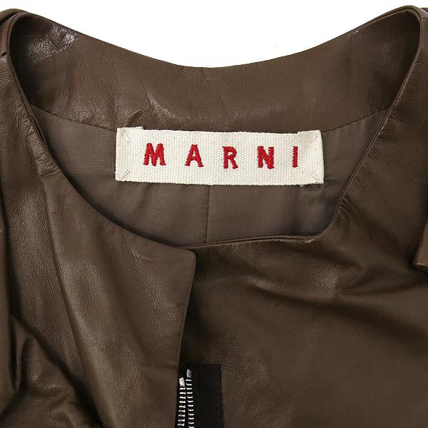 MARNI(마르니) 브라운 컬러 7부 양가죽 여성용 가죽 코트[부산센텀본점] 이미지5 - 고이비토 중고명품