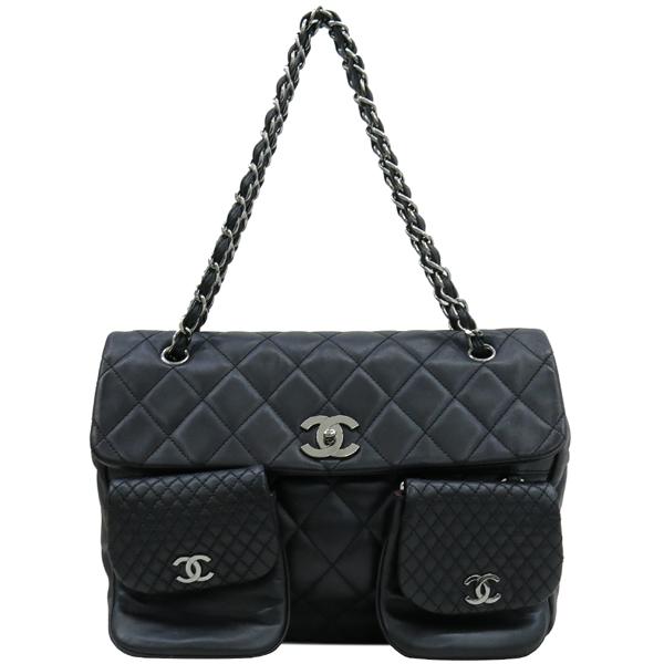Chanel(샤넬) COCO 로고 장식 멀티 포켓 램스킨 스티치 레더 체인 숄더백 [대구반월당본점] 이미지2 - 고이비토 중고명품