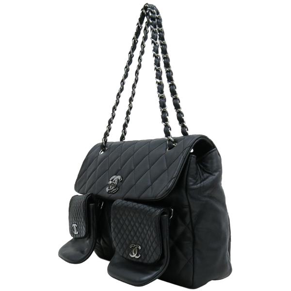 Chanel(샤넬) COCO 로고 장식 멀티 포켓 램스킨 스티치 레더 체인 숄더백 [대구반월당본점] 이미지3 - 고이비토 중고명품