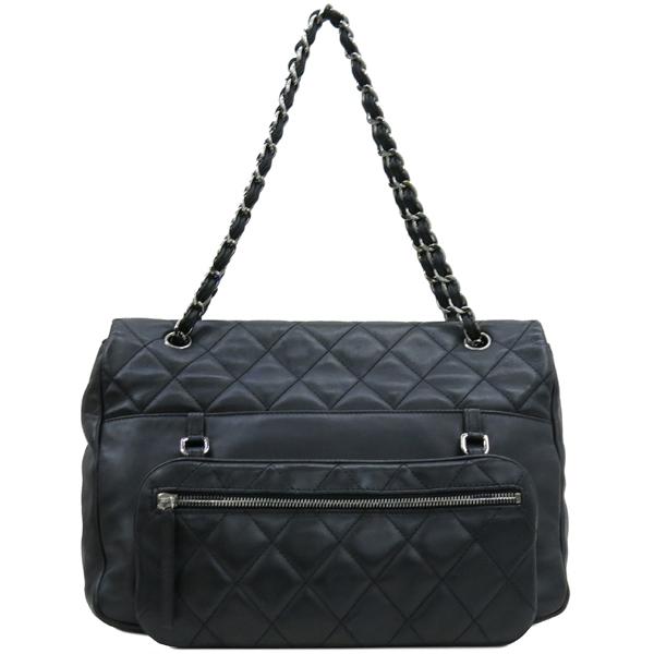 Chanel(샤넬) COCO 로고 장식 멀티 포켓 램스킨 스티치 레더 체인 숄더백 [대구반월당본점] 이미지4 - 고이비토 중고명품