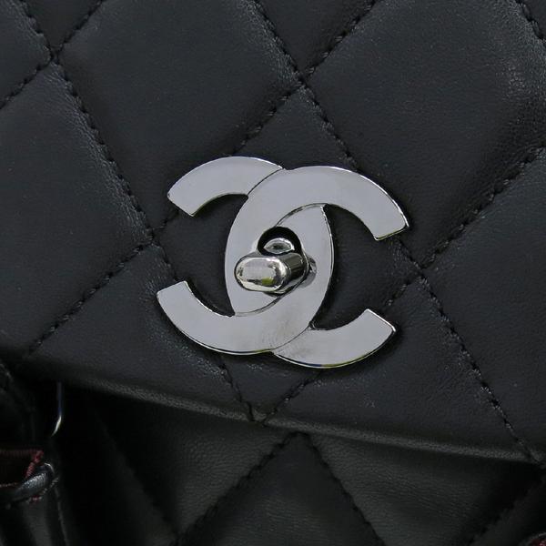 Chanel(샤넬) COCO 로고 장식 멀티 포켓 램스킨 스티치 레더 체인 숄더백 [대구반월당본점] 이미지5 - 고이비토 중고명품