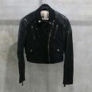 Burberry(버버리) 3875944 블랙 컬러 소매 가죽 장식 여성용 라이더 자켓 [인천점]