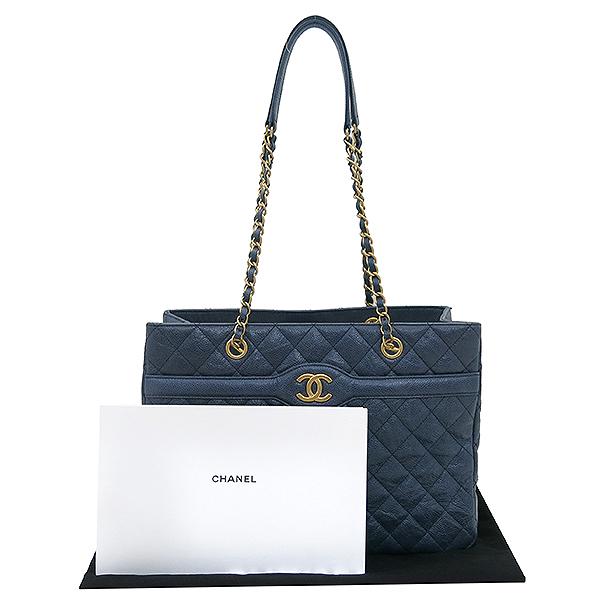 Chanel(샤넬) COCO 로고 빈티지 캐비어 스킨 체인 쇼퍼 숄더백 [부산센텀본점]