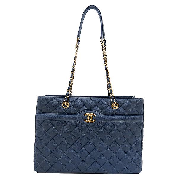 Chanel(샤넬) COCO 로고 빈티지 캐비어 스킨 체인 쇼퍼 숄더백 [부산센텀본점] 이미지2 - 고이비토 중고명품