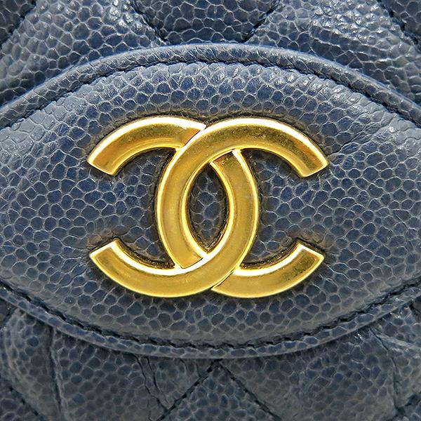 Chanel(샤넬) COCO 로고 빈티지 캐비어 스킨 체인 쇼퍼 숄더백 [부산센텀본점] 이미지4 - 고이비토 중고명품