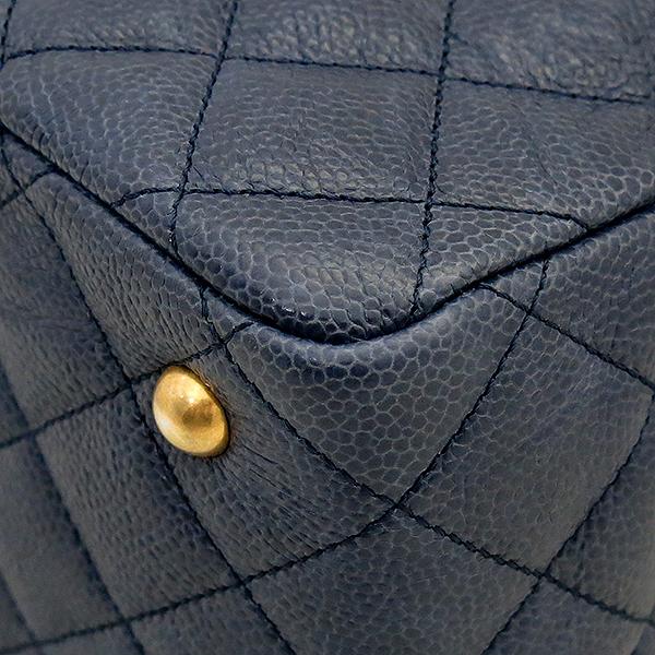 Chanel(샤넬) COCO 로고 빈티지 캐비어 스킨 체인 쇼퍼 숄더백 [부산센텀본점] 이미지5 - 고이비토 중고명품