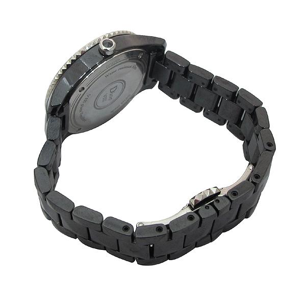Dior(크리스챤디올) CD1231E0 Dior VIII 컬렉션 블랙 하이테크 세라믹 다이아몬드 스틸 폴딩 버클 쿼츠 28MM 여성용 시계 [강남본점] 이미지4 - 고이비토 중고명품