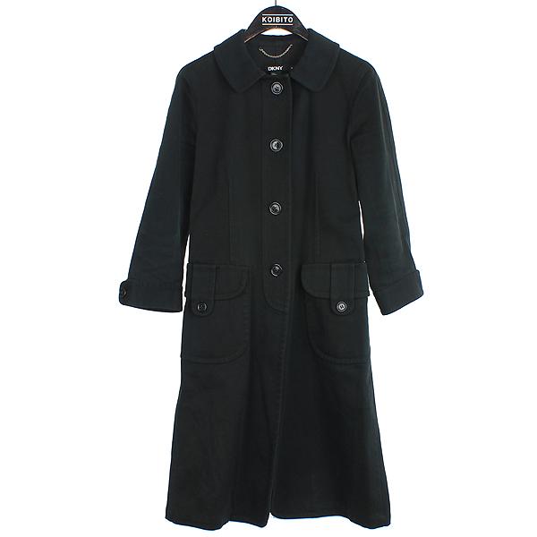DKNY(도나카란) 블랙 컬러 여성용 코튼 코트 [강남본점]