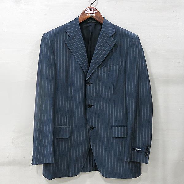 CANALI(카날리) 네이비 스트라이프 패턴 남성용 정장 자켓 [부산센텀본점]