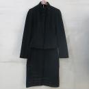 O'2nd(오즈세컨) 블랙 컬러 모 혼방 여성용 자켓 (치마 SET) [부산센텀본점]