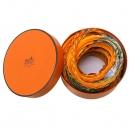 Hermes(에르메스) 오렌지컬러 실크 100% 셔링 주름 스카프 [대구반월당본점]