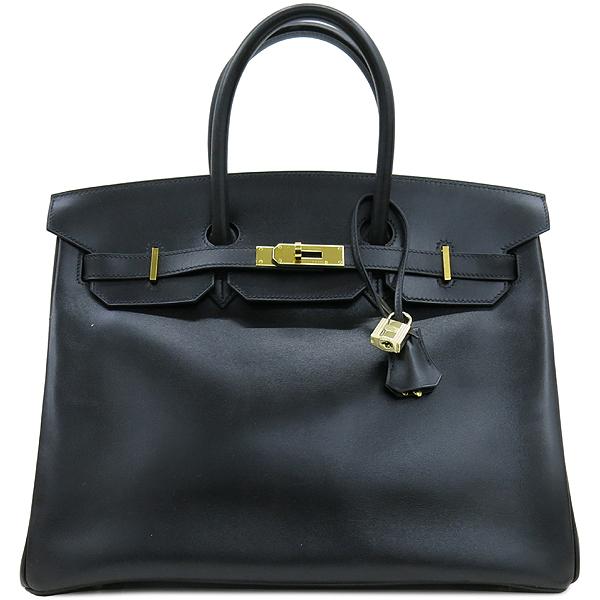 Hermes(에르메스) 블랙 컬러 복스카프 벌킨 35 금장 버클 토트백 [강남본점] 이미지2 - 고이비토 중고명품