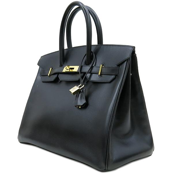 Hermes(에르메스) 블랙 컬러 복스카프 벌킨 35 금장 버클 토트백 [강남본점] 이미지3 - 고이비토 중고명품