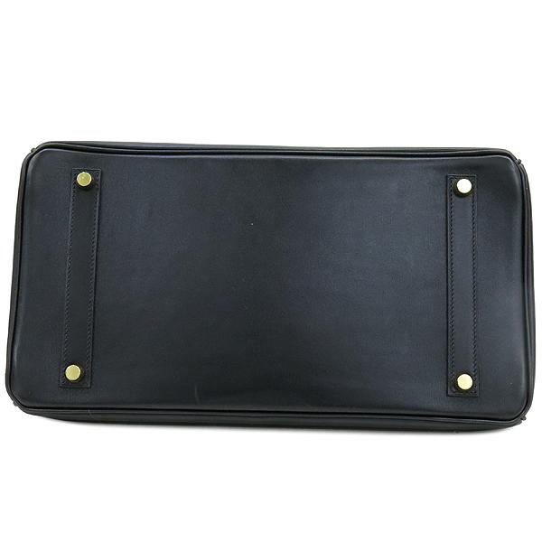 Hermes(에르메스) 블랙 컬러 복스카프 벌킨 35 금장 버클 토트백 [강남본점] 이미지5 - 고이비토 중고명품