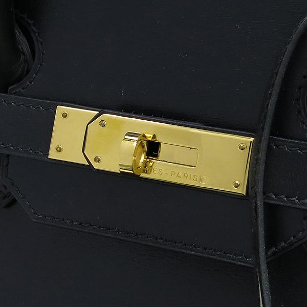 Hermes(에르메스) 블랙 컬러 복스카프 벌킨 35 금장 버클 토트백 [강남본점] 이미지6 - 고이비토 중고명품
