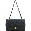 Chanel(샤넬) A01112Y01490 금장 COCO 로고 블랙 컬러 램스킨 클래식 M 사이즈 체인 숄더백 [대구반월당본점]