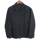Hermes(에르메스) 블랙 컬러 카라 짚업 가죽 배색 블루종 남성용 자켓 [강남본점]