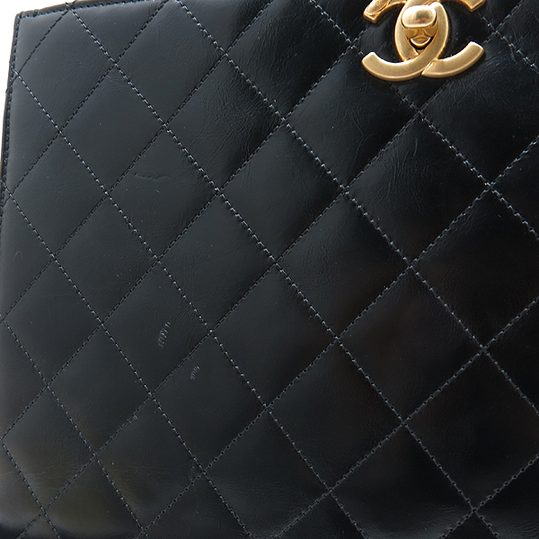 Chanel(샤넬) A91865 16SS 컬렉션 카프스킨 블랙 레더 금장 COCO로고 장식 2WAY [인천점] 이미지6 - 고이비토 중고명품