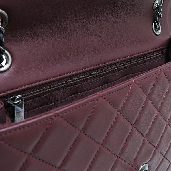 Chanel(샤넬) A90817 메탈리스 크루즈 컬렉션 블랙 버건디 투톤 램스킨 빈티지 스터드 COCO 로고 체인 숄더백 [인천점] 이미지7 - 고이비토 중고명품
