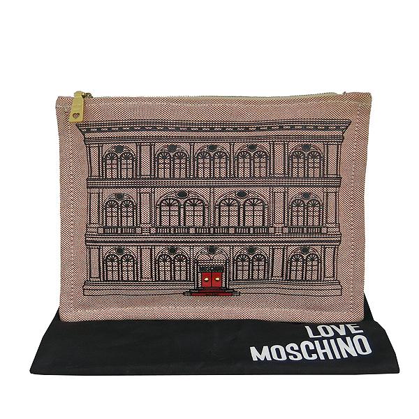 Moschino(모스키노) 하우스 프린팅 패브릭 클러치 [동대문점]